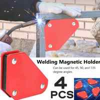 4pcs 9LB Angle Soldering Locator Magnetic Magnet Corner Arrows Welder Welding Holder Tool Right Angle Fixing Tool