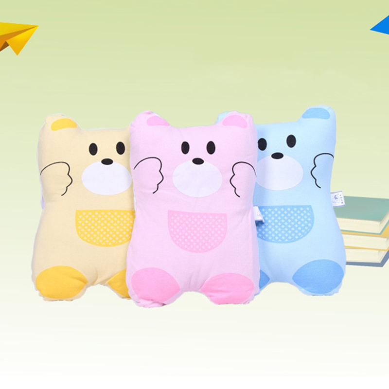 Cute Small Bear Anti-head Stereotype Baby Pillow New Design Newborn Infant Flat Head Sleeping Positioner Support Cushion Prevent