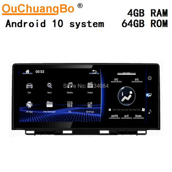 Ouchuangbo 10.25 Inch Car GPS android 10 Audio Player For Lexus NX200 NX300 200h 300h 2018 With LHD RHD 8 Cores 1080P 4GB 64GB image