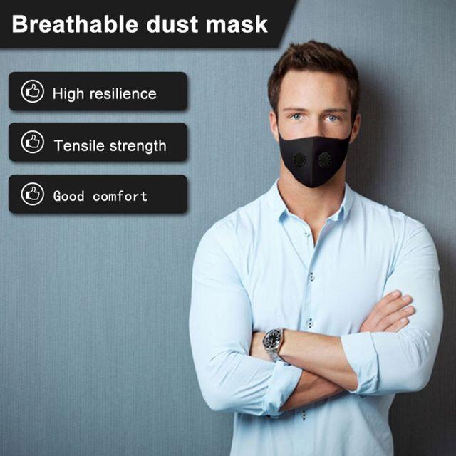 Black Valve Mask Filter Pad Breathable Freely Earloop Face Mask Anti Pollution Anti Flu Masks
