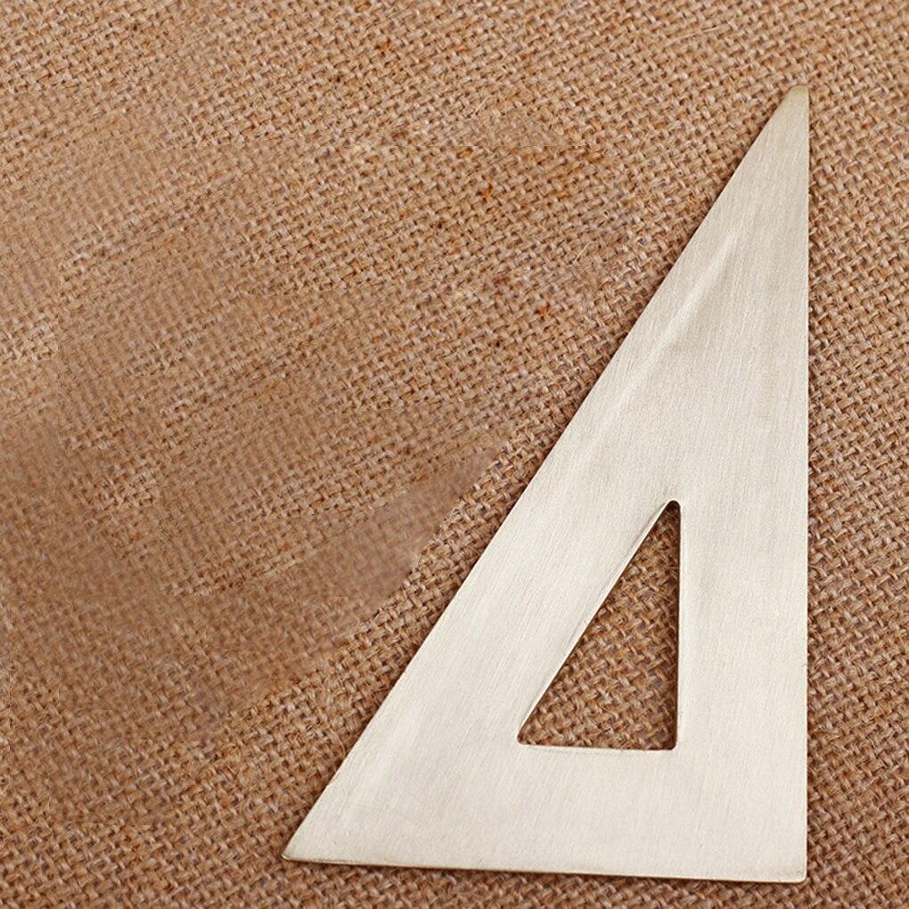 FangNymph Brass Triangular Ruler 180 Degree Protractor Construction Sketch Geometric Figure Drawing Tool Measuring Ruler