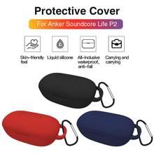 Couvercle de Protection en Silicone pour Anker Soundcore Life P2, Protection durable contre les éclaboussures d'eau