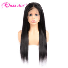 Brazilian Wig Lace-Wig Human-Hair-Wigs Jazz Star Straight Pre-Plucked Nonremy with 13--4/13--6