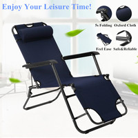 Folding Beach Chair Sun Loungers Outdoor Folding Recliner Portable Back Fishing Chair Wild Camping Beach Stool Rest bed