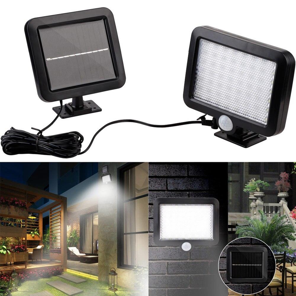 56 LED luz Solar al aire libre luz Solar de jardín impermeable PIR Sensor de movimiento lámpara de pared focos de seguridad lámpara de calle de emergencia