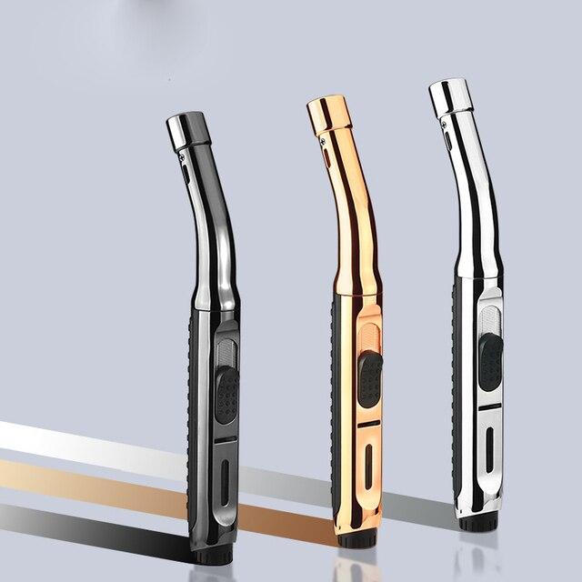 Super Long Kitchen Cooking Torch Lighter Metal Gas Lighter 1300C Cigar Cigarette Lighters Smoking Accessories Gadgets for Men 3