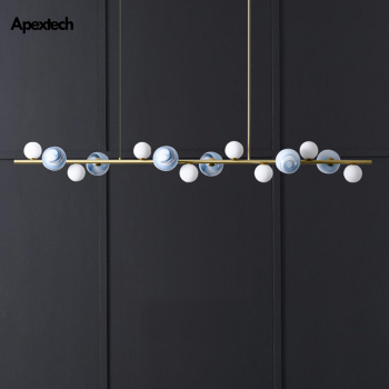 Horizontal Ceiling Hanging Chandelier Lights Kitchen Island Linear Bar Pendant Lamp Dining Room Restaurant Lighting Fixtures