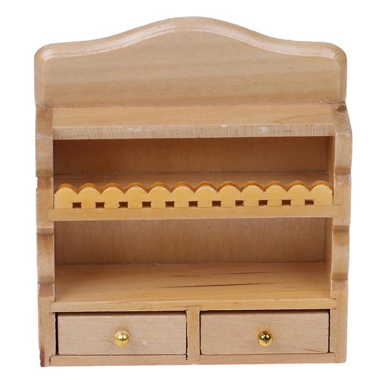 1PC Dollhouse 1/12 Scale Miniature Hanging Cabinet Shelf Model Kitchen / Bathroom Furniture Decor