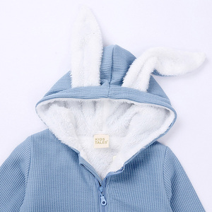 Image 4 - חורף תינוק Romper יילוד ילד ילדה סרבל תינוקות תלבושות חם פעוט בגדי סרבל חמוד ארנב תלבושות עבור 0 18 חודשים
