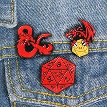 Spilla a forma di drago per uomo donna lega distintivi da Cowboy camicia spille smaltate spille Badge pini Metalicos gioielli Brosche accessori