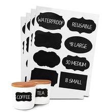 40Pcs/pack Chalkboard Labels sticker Pantry for kitchen decoration Jars Blackboard Sticker Label christmas party decoration цена 2017