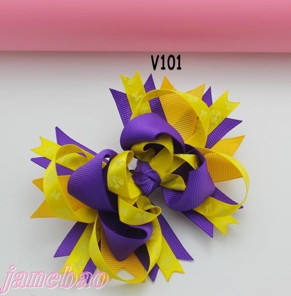 72pcs бутик для девочек заколки для волос перо банты забавные, для волос луки ко Дню Святого Валентина с бантом