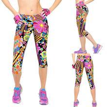 2020 yoga pants leggings sport women fitness high waist elastic leggings for fitness running gym leggings Slim Cropped trousers