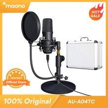 Maono A04TC usbマイクキット 192 125khz/24BITプロフェッショナルコンデンサーmicrofonoポッドキャストマイクストリーミングyoutubeのゲーム記録