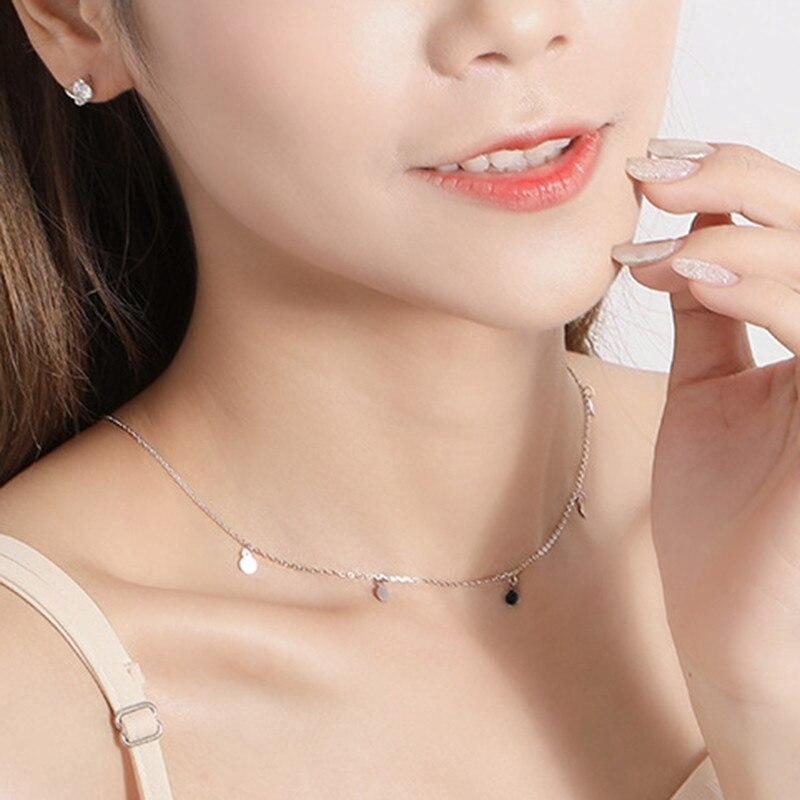 H539890ae836d4b7fa746d412c715ae9fC INZATT Real 925 Sterling Silver Geometric Round Choker Necklace For Fashion Women Minimalist Fine Jewelry Cute Accessories 2019