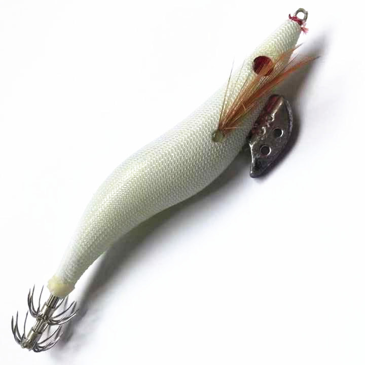 1Pcs Luminous Jig isca artificial Lure 10cm 13.4cm Fishing Shrimp Lure Bait Squid Shrimp Jig Pesca Lead Sinker Carp Fishing