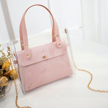 Small Leather Handbags for Women 2019 Transperent PVC Hand Bags