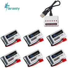 3.7V 400mah Lipo Battery and Charger For SYMA X15 X5A-1 X15C X15W RC Drone Helicopter Spare Parts 3.7v Rechargeable battery(China)