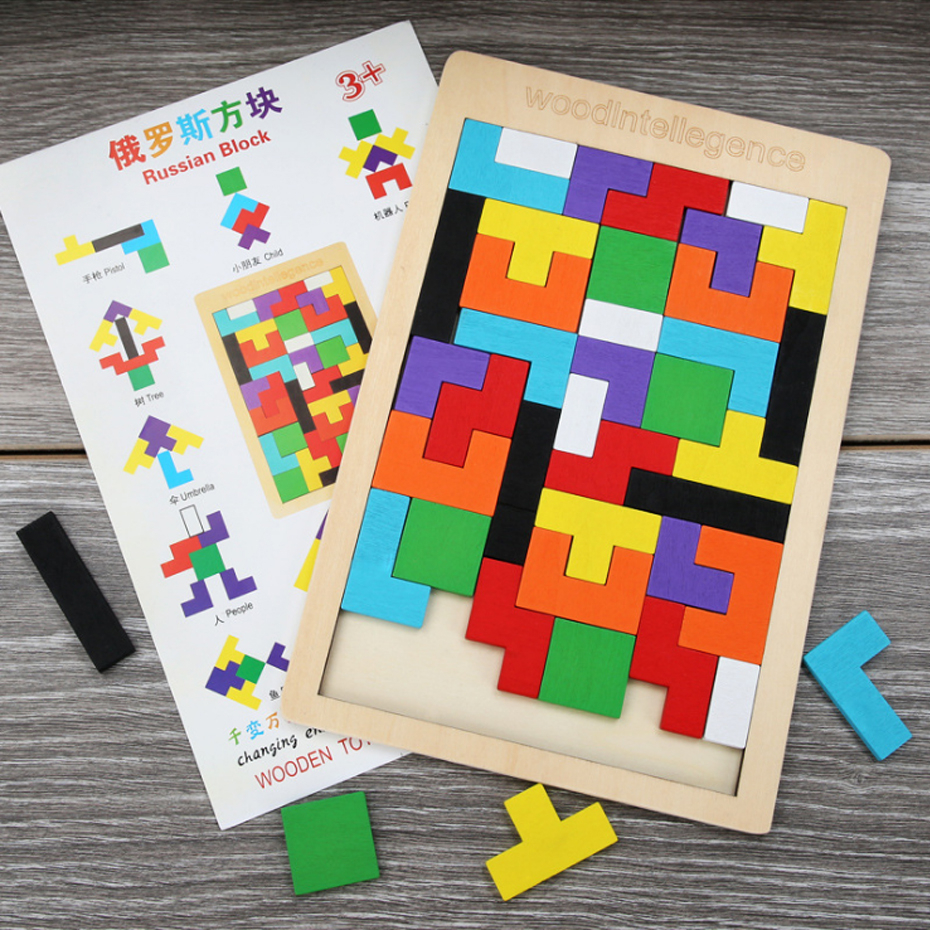 Holz <font><b>Puzzle</b></font> <font><b>3D</b></font> Gehirn Spielzeug Tangram <font><b>Puzzle</b></font> Board kinder Spielzeug <font><b>Puzzle</b></font> Bildung Spiel Baby Holz Geschenk Spielzeug image