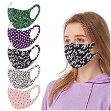 Um design elegante e elegante reutilizável colorido tecido rosto turbante neutro máscara lavável confortável e macio mascarillas