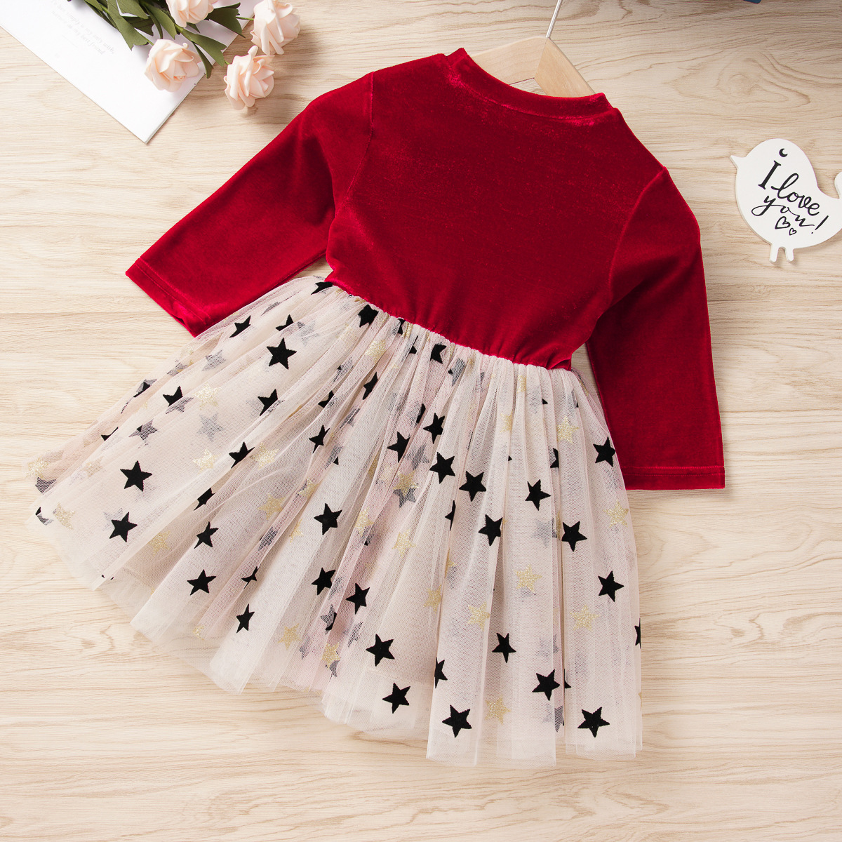 HIPAC Toddler Girl Winter Clothes Kids Dress for Baby Girls Princess Dresses Party Draped Ball Gown Children Cute Star Clothing