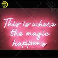 Mejor https://ae01.alicdn.com/kf/H5399474c970b40e583a9f411227151f5C/Letrero de neón para esto es donde la magia sucede las bombillas de neón signo Iconic.jpg