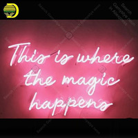 Neon sign For this is where the Magic happen Neon Bulbs sign Iconic Beer bar wall Custom Lamps advertise Letrero enseigne lumine
