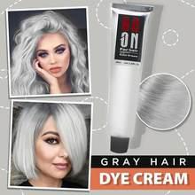 Cinza tintura de cabelo creme estilo punk natureza luz permanente prata unissex tintura de cabelo cor creme cosméticos beleza cuidados com o cabelo