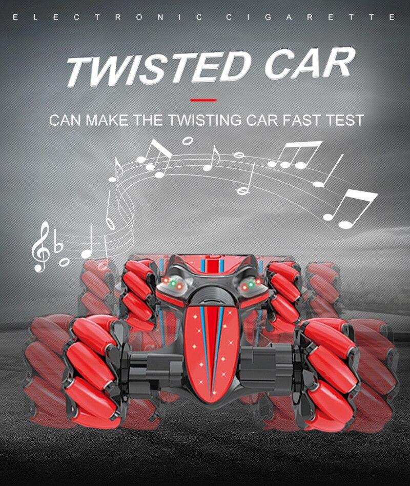 Cascadeur geste télécommande torsion voiture tout-terrain véhicule dérive lumière musique dérive danse Double côté conduite cascadeur voiture gesto
