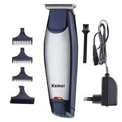 Máquina de cortar cabelo elétrica KM-5021 aparador de cabelo profissional mudo barbeador recarregável corte de cabelo masculino