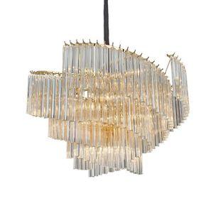 Image 1 - آرت ديكو الحديثة الثريا مصباح لغرفة المعيشة AC110V 220 فولت الذهب تركيبات إضاءة غرفة الطعام