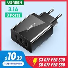 Ugreen-Cargador USB de pared para teléfono móvil, dispositivo de carga rápida con enchufe europeo para iPhone Xs X 7 8 plus, Samsung, Xiaomi y Huawei
