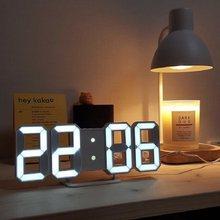 Nordic digital wall clock, snooze function, smart alarm clock, thermometer, display, office clock, digital wall clock