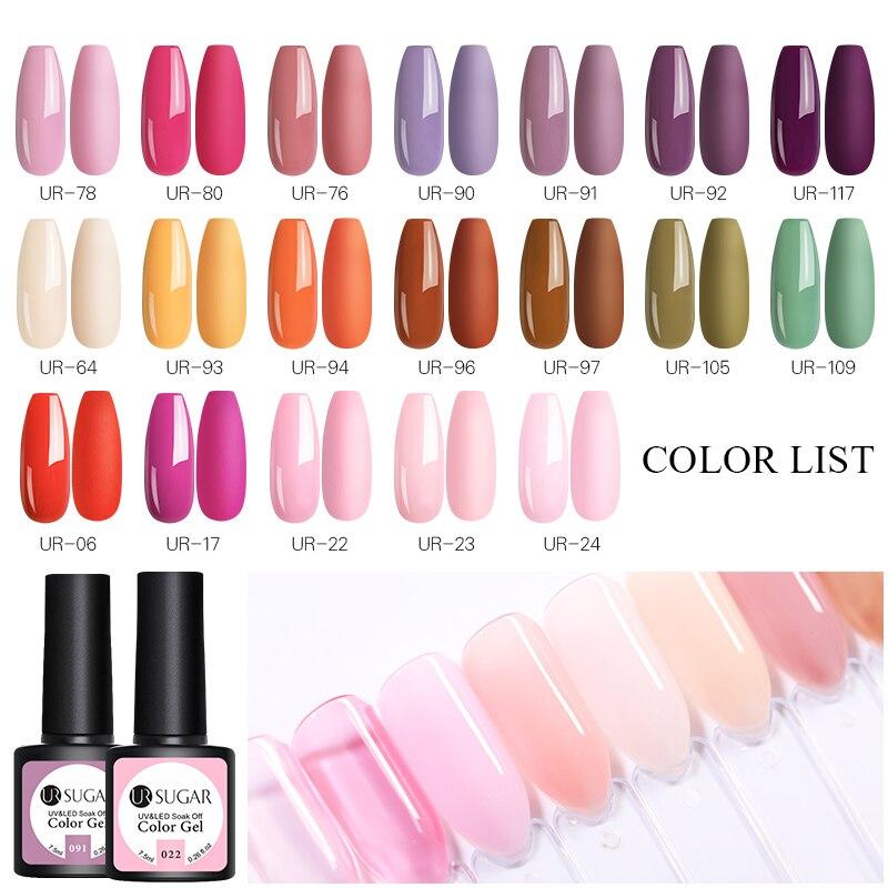 UR SUGAR Spring Fresh Color Series Gel Nail Polish Summer Nail Color Soak Off UV Nail Gel Polish For DIY Art Manicure