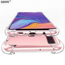 Luxo Silicone Caso Claro Para Samsung Galaxy M10 M20 M30 A20 A20E A30 A40 A50 A60 A70 A80 A90 Nota 3 4 10 Plus Pro Tampa Traseira