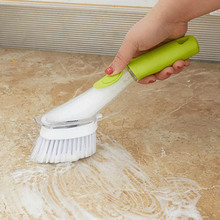 Dish Washing Brushes Automatic Liquid Kitchen Gadgets Cleaning Brush Sink Floor Tools Non-Stick Oil Scouring Pad