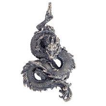BOCAI-Colgante de Dragón de la suerte para hombre, joyería de plata de ley 925 auténtica, estilo retro
