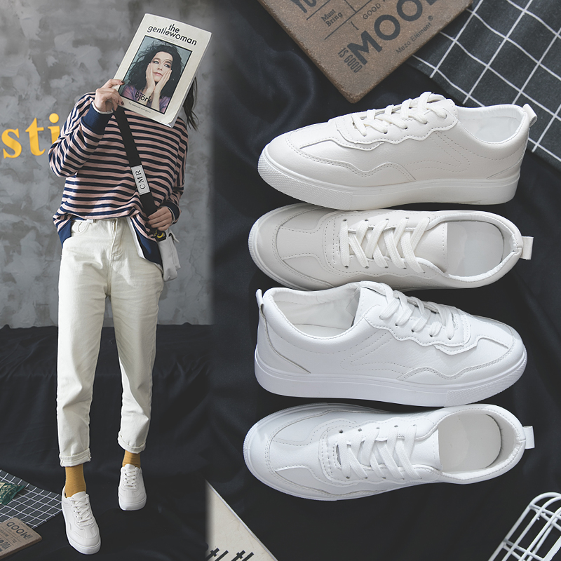 Women Fashion Vulcanized Tenis Feminino Zapatos De Mujer Slimming White Sneakers Casual Breathable Shoes Woman Walking M1153