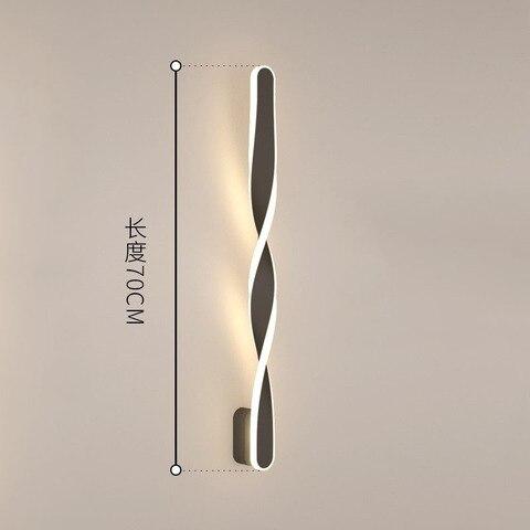lampada de parede espiral nordico moderno