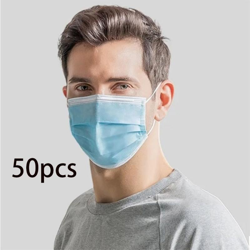 1/20/50Pc Dust Proof Mask Disposable Face Mask Breathable Dust Proof Respirator Professional Mask Cover Non-woven Antiviral Mask