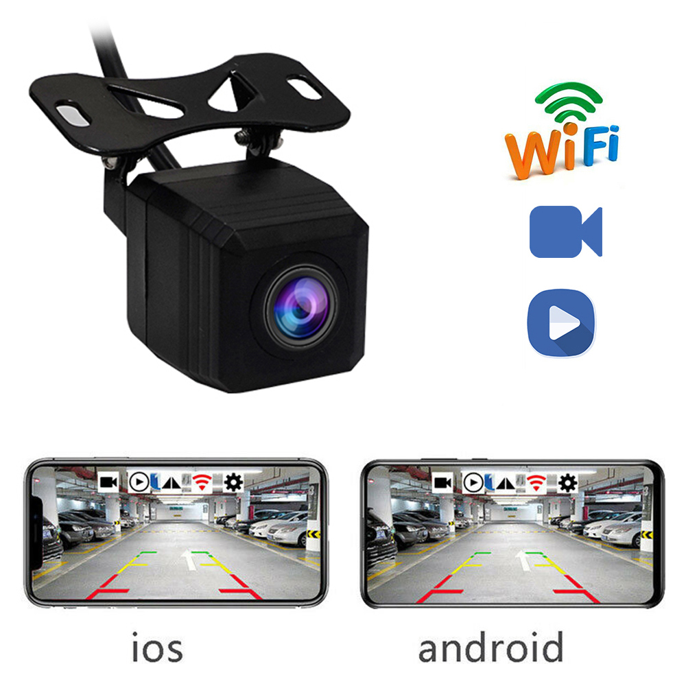 새로운 와이파이 자동차 사이드 카메라 자동차 전문 HD 후면보기 카메라 백업 카메라 자동차 앞/뒤 카메라 지원 안드로이드 및 Ios