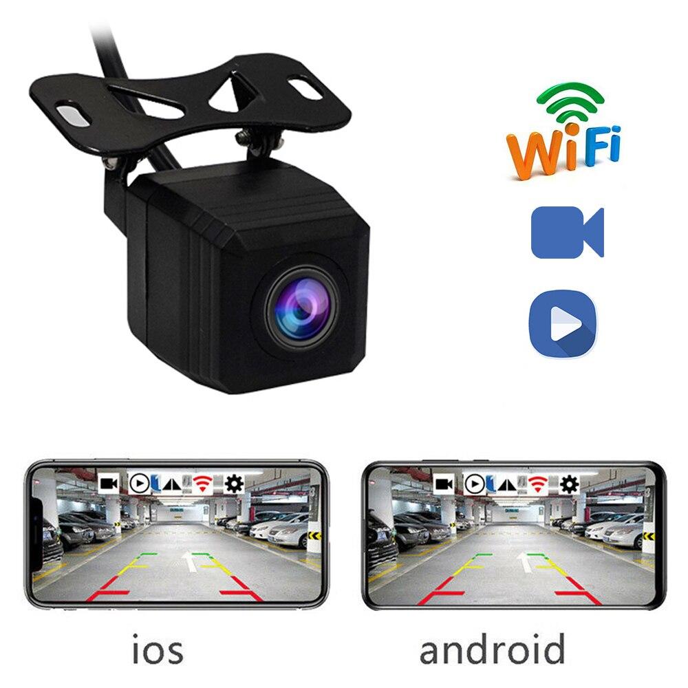 Nova wifi Câmera Profissional HD Câmera de Visão Traseira Do Carro Retrovisor Do Carro De Backup Camera Car Frente/Traseira Câmeras Suporte Android e Ios