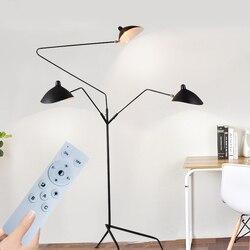 Designer tripé lâmpada de assoalho nordic ajustável aranha braço suporte luz loft industrial sala estar quarto decoração iluminação interior