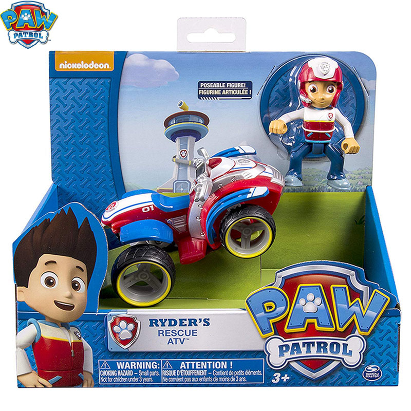 Paw Patrol Toys Set Ryder Rescue Car Puppy Patrol Patrulla Canina Anime Action Figures Toys For Children Birthday Gift D93