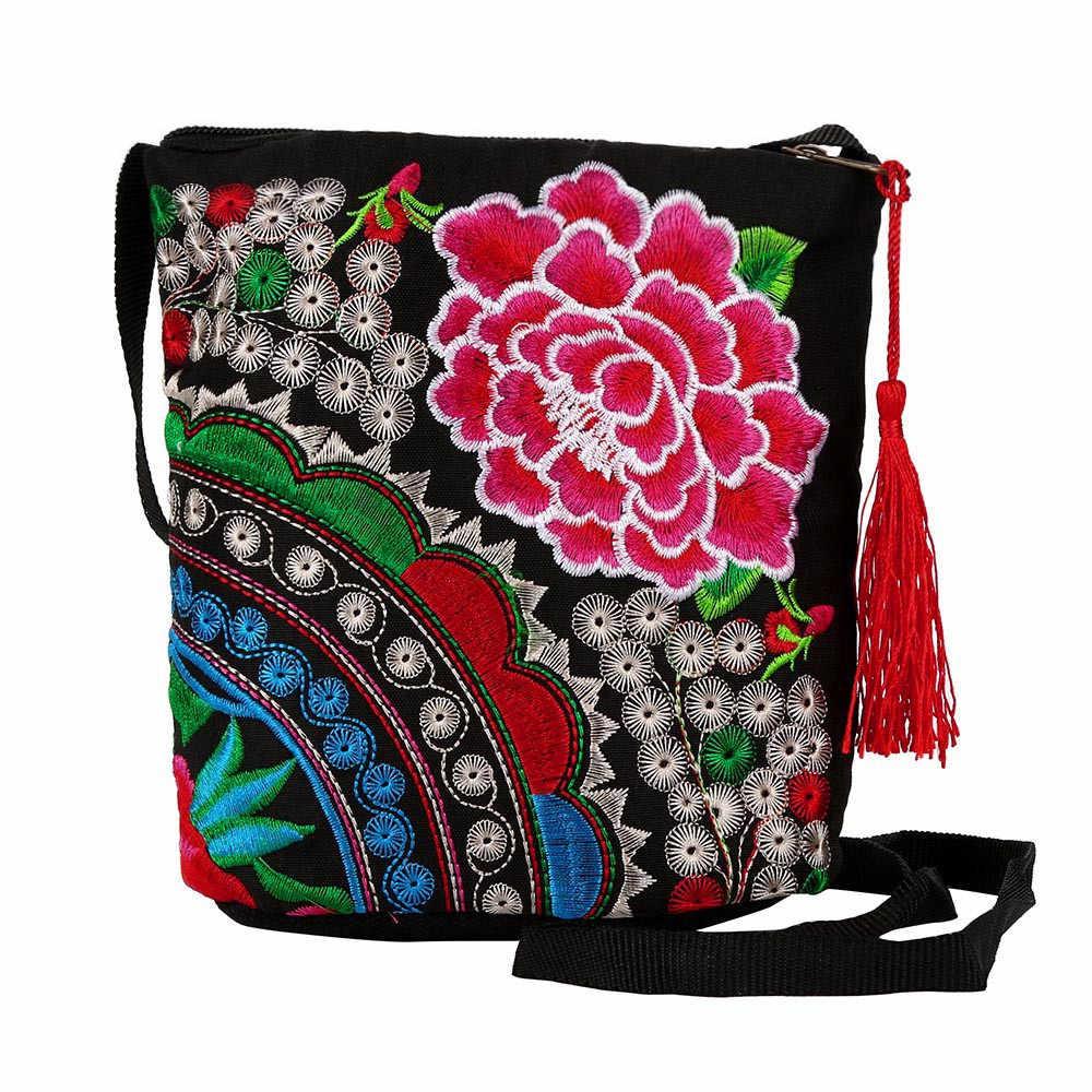 Kadınlar etnik cüzdan ulusal el yapımı İşlemeli bileklik el çantası şık sadelik Vintage bozuk para cüzdanı кошелек женский