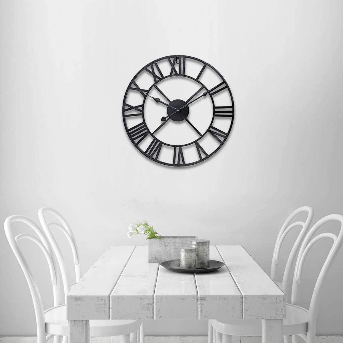 Date 40 cm/60 cm horloge murale Vintage décor à la maison salon romain forme ronde décoration murale décoration de la maison accessoires horloge