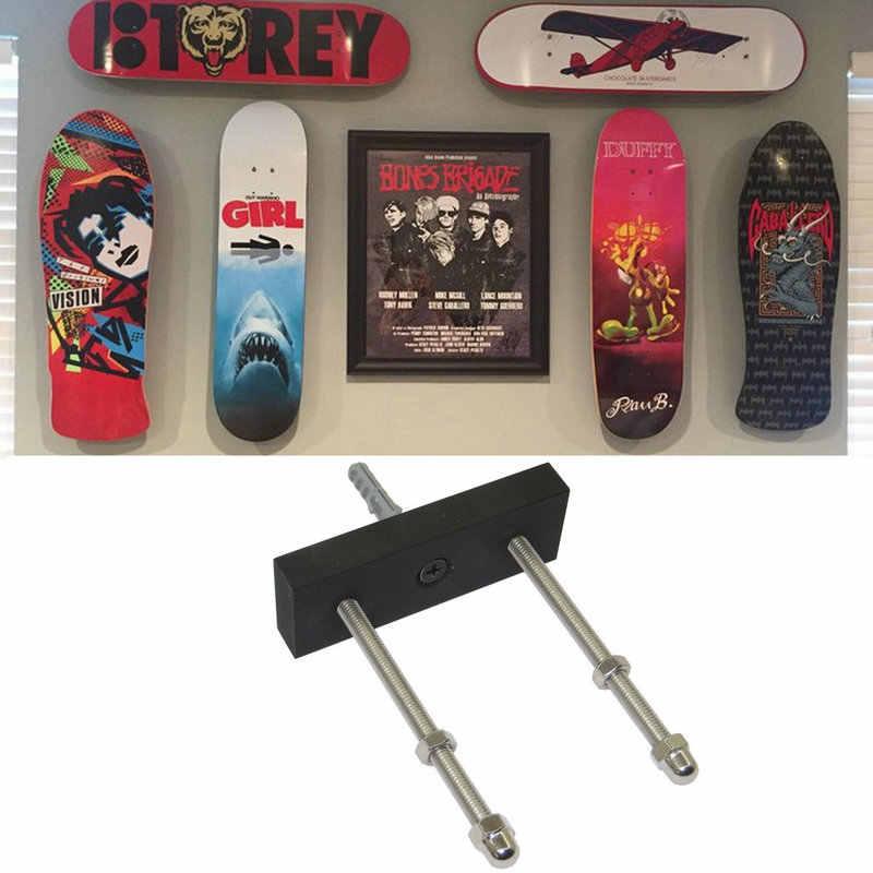 Wall Mount Skateboard Display Hanger Rack Holder Hanging Brackets Transparent