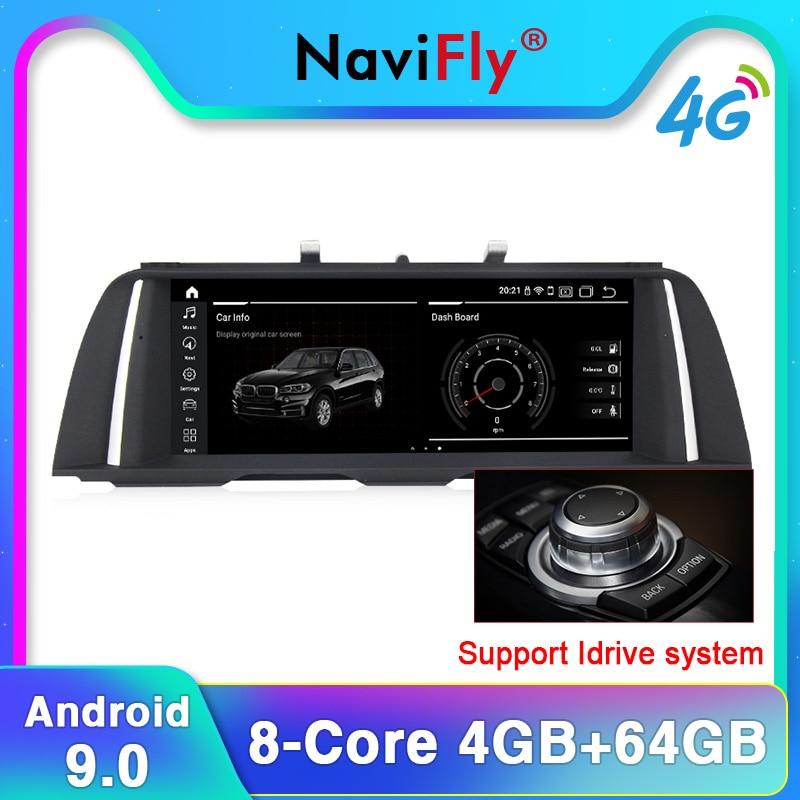 10.25 pouces IPS écran Quad Core android système autoradio DVD GPS Navi pour BMW série 5 F10 F11 2011-2017 lien miroir 4 + 64G CIC/NBT