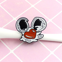 Broken egg Enamel Pins Custom Badges Love Eggshell Brooches Cartoon Badges Fashion Enamel Pins Jewelry Gifts for Friends