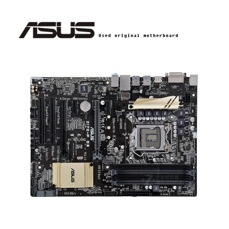Pour ASUS Z170-P D3 carte mère d'origine Socket LGA1151 DDR3 Z170 carte mère de bureau